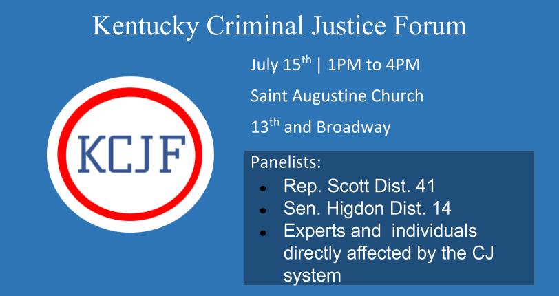 Kentucky Criminal Justice First Forum