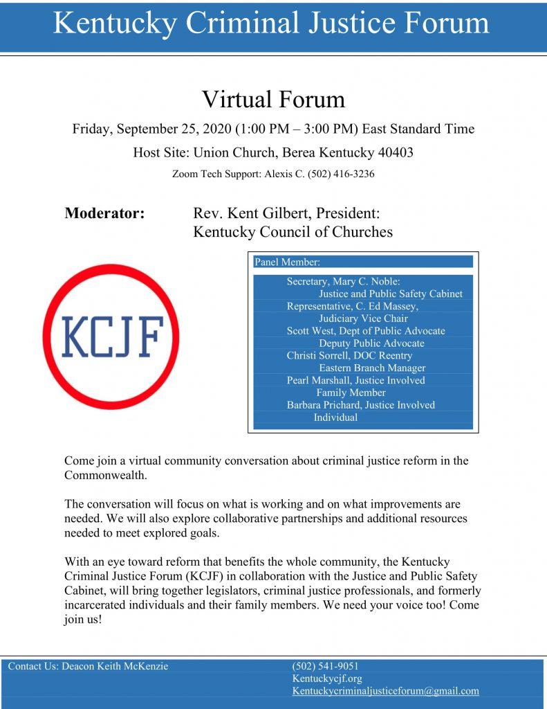 KCJF Berea Forum Flyer